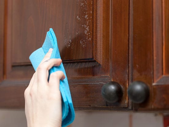 How To Clean Kitchen Grease Off Your Cabinets Speed Cleaning House Cleaning Supplies Tools And Tips From Jeff Campbell S The Clean Team